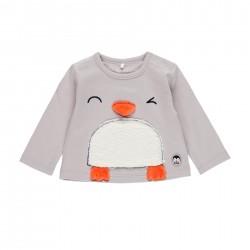 "Camiseta malha ""pinguim""..."