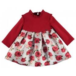 Vestido combinado flores