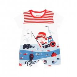 "Babygrow malha ""sea world""..."