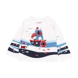 "Camiseta malha ""peixes""..."