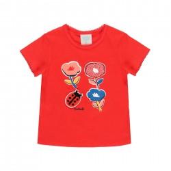 """Camiseta malha """"floral""""..."""