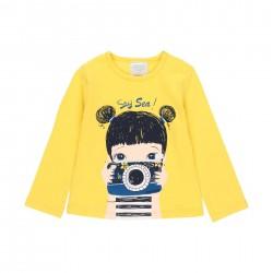 """Camiseta malha """"câmera""""..."""
