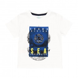"""Camiseta malha """"sea world""""..."""