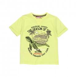 """Camiseta malha """"tartaruga""""..."""