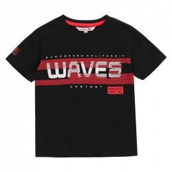 """Camiseta malha """"big waves""""..."""