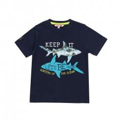 """Camiseta malha """"tubarões""""..."""