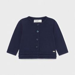 Casaco comp. tricô botões